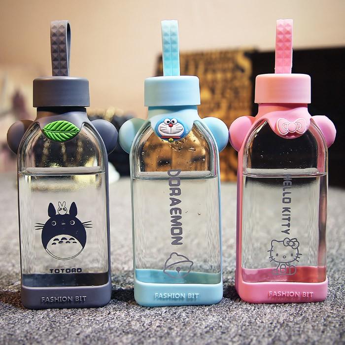 hello kitty ✨多啦A 夢兒童 卡通玻璃杯可愛女水杯帶蓋便攜凱蒂貓迷你小杯子
