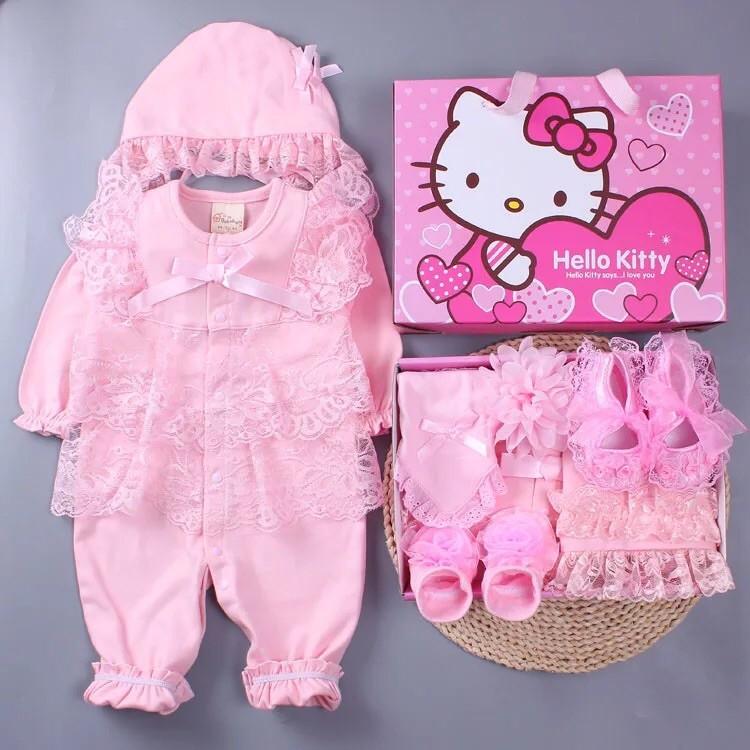 2016 年 春秋裝新生嬰兒 寶寶長袖全棉哈衣套裝公主滿月百天連身衣