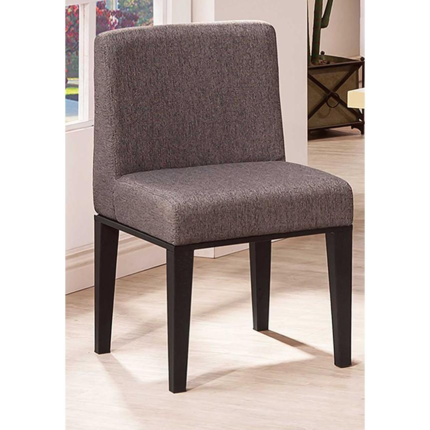~昱陽傢俱~韓森黑腳灰色布餐椅椅子會議桌書桌椅萬用椅二色 橘色灰色 品~桃園以北免 ~