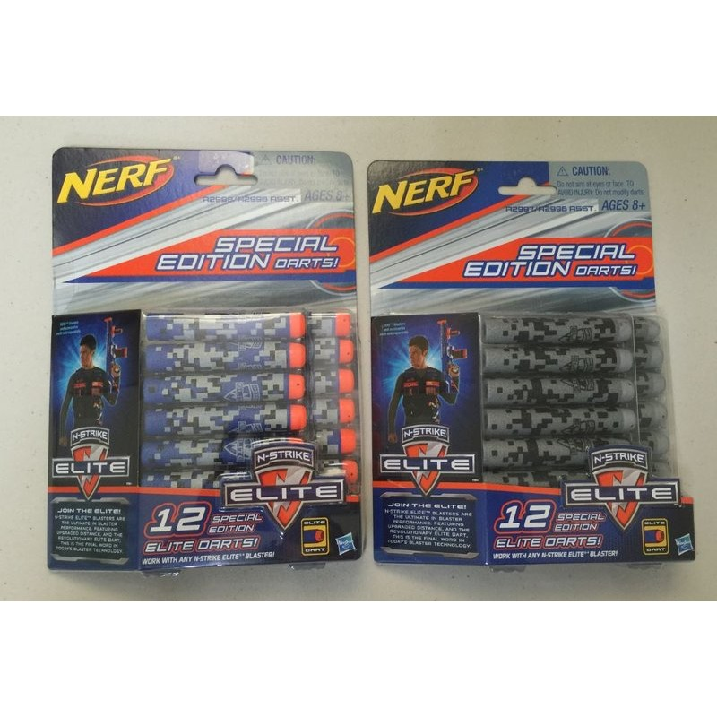 ~購皮~NERF 稀有迷彩子彈補充包12 入N STRIKE elite 菁英彈夾彈匣組吸