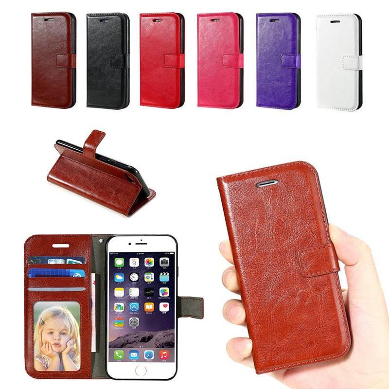 iPhone7 7 Plus 疯马纹PU 插卡带相框支架手機套左右帶磁軟PU 皮套