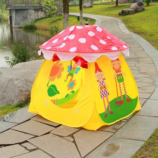 可愛蘑菇可折篷免組裝遊戲屋遊戲帳篷自動帳篷球屋