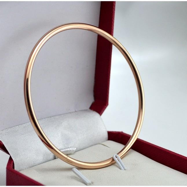 鈦鋼316 玫瑰金色銀色手鐲韓國 光面不生鏽不過敏不變形情人節送禮 犒賞自已閨密