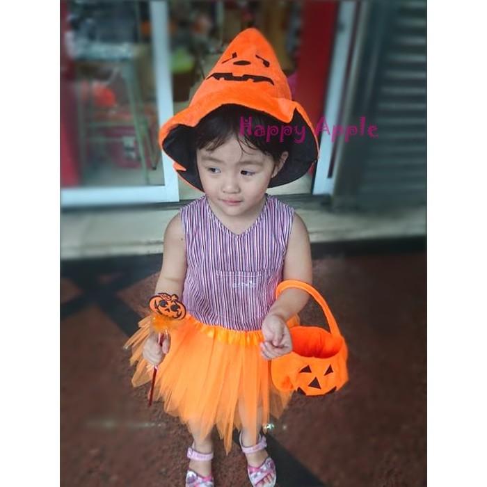 Happy Apple 萬聖節裝扮萬聖節服裝兒童變裝派對表演服裝尾牙表演南瓜小公主