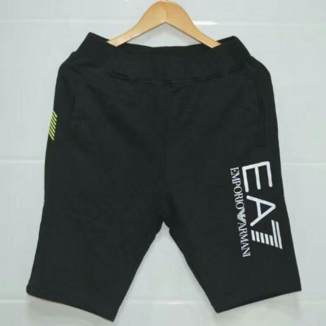 EA7 棉質短褲 休閒短褲舒適