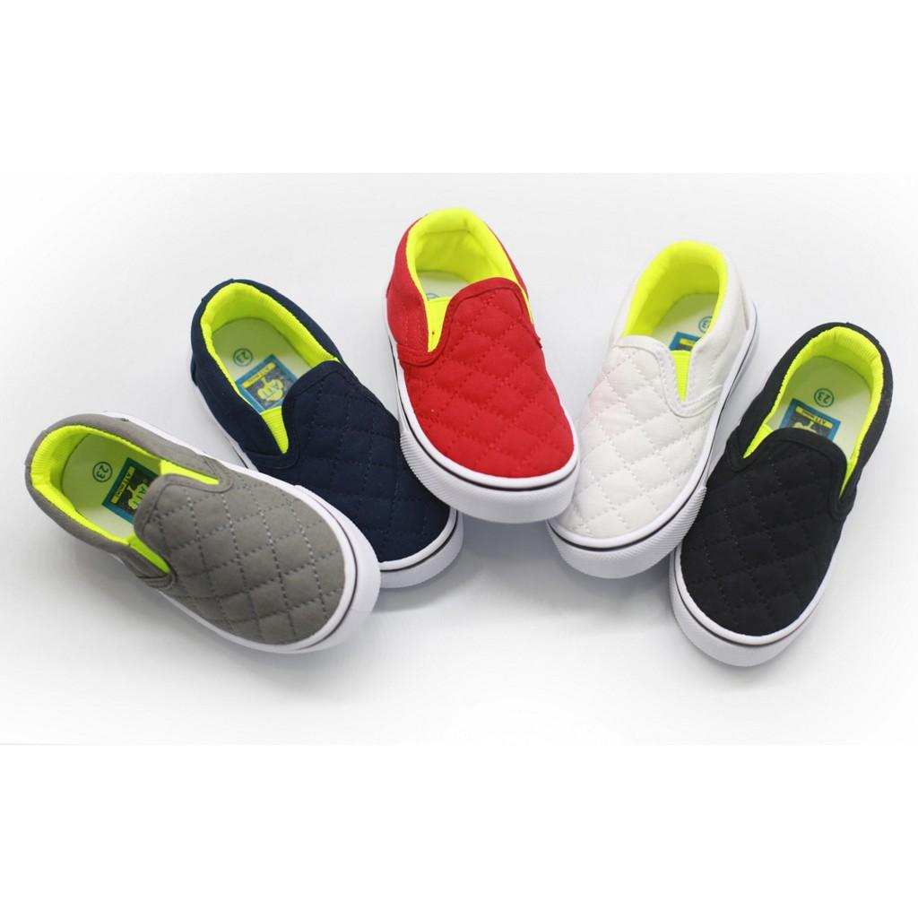 男女兒童外貿韓款電繡格子透氣帆布鞋童鞋懶人鞋2 10 歲02