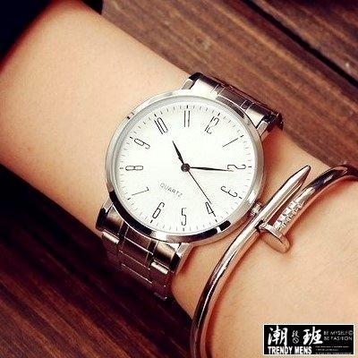 超薄錶盤金屬手錶男錶女錶對錶~SB050611 ~