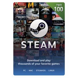 可 波波的小店全臺首家代理Steam 錢包台幣100 元蒸氣卡NT 100 蒸氣卡新台幣1