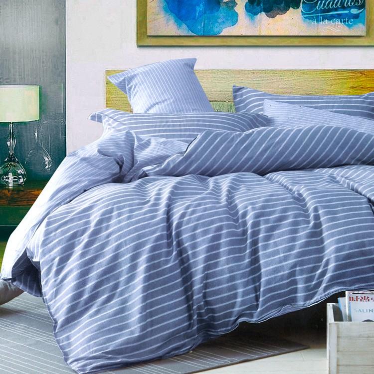 ❤ 6 折❤100 精梳純棉雙人床包被套兩用被組雙人~梵谷小麥田_ 藍~Artis 製