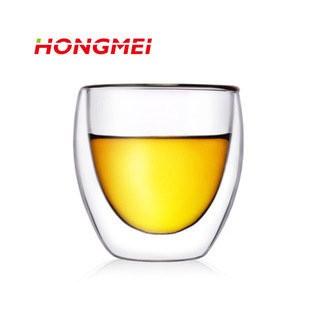 歡勝商貿1011 外銷正品雙層玻璃杯250ml 超耐熱150 度bodum 高硼硅玻璃杯茶