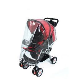 姵、蒂、屋、透明防水透氣嬰兒手推車傘車雨罩環保無毒雙向推車防風罩手推車雨罩防風雨罩寶寶手推