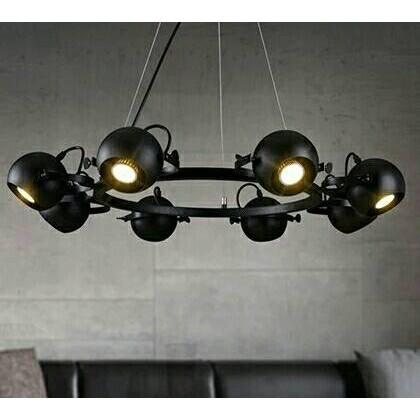 483 美式餐廳loft 鐵藝吊燈復古簡約射燈服裝店 酒吧吊燈
