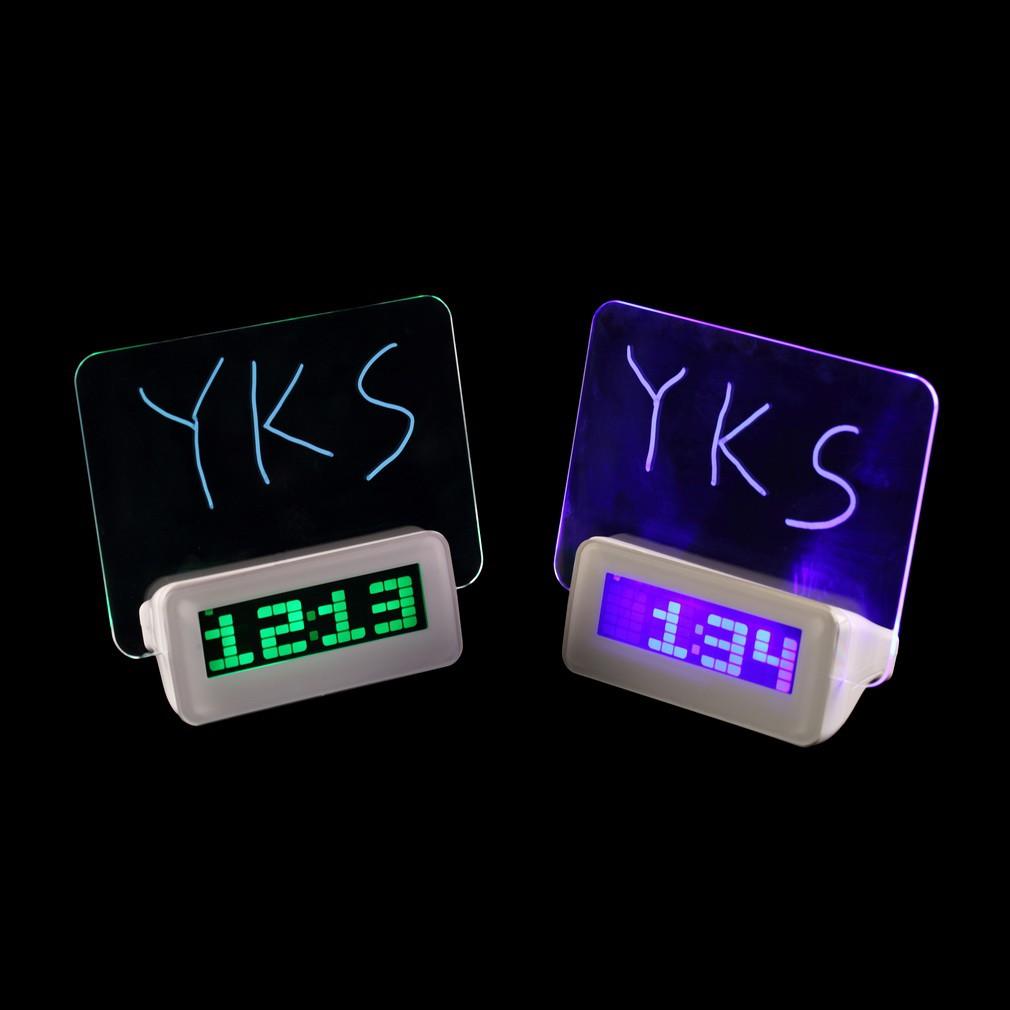 C 款 留言板時鐘多 螢光留言板鬧鐘LED 鬧鐘有HUB USB 2 0 畢業  聖誕節