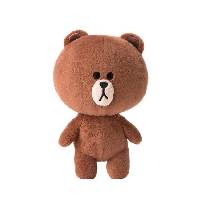 HuGaGa 韓國 館™~LINE FRIENDS 熊大兔兔莎莉胖友18cm 高紱毛娃娃~