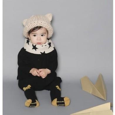 ~灰熊Q ~Q96 兒童 毛線帽耳朵嬰幼兒冬款套頭帽針織帽編輯保暖潮寶寶帽 保暖帽毛帽毛線