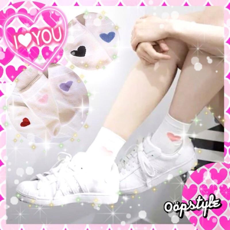 0 öpstyle 愛心米白襪5 色VIVI 雜誌刊載學生襪子短襪中筒襪日系 原宿可愛