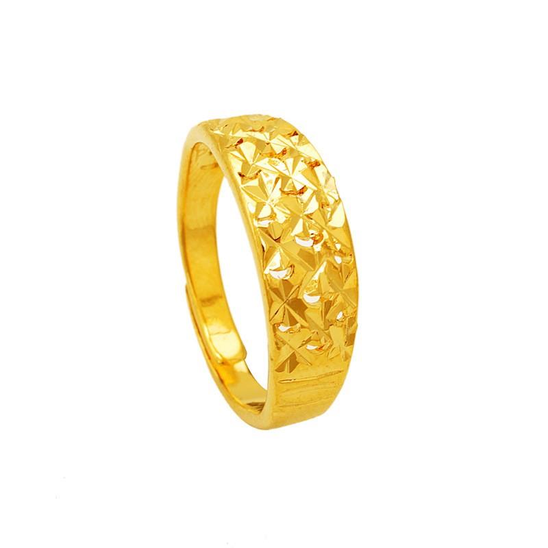 鍍24K 沙金項鏈防過敏女士滿天心戒指結婚訂婚情人節母親節父親節生日送禮
