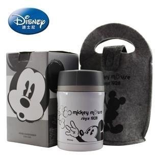 最 下殺3 8 折迪士尼DISNEY 米奇黑白 提袋悶燒罐悶燒杯保溫杯保溫瓶450ml