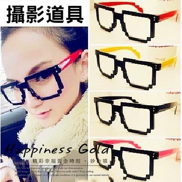 妙金禧韓藝人最愛馬賽克多彩眼鏡框男女 眼鏡打扮道具攝影道具裝飾眼鏡~貨到 最安心~