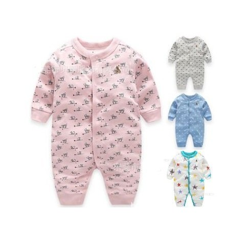 2016 嬰兒秋裝男女嬰兒服裝長袖收腳單層薄款純棉連體衣哈衣男寶寶連身衣女寶寶兔裝