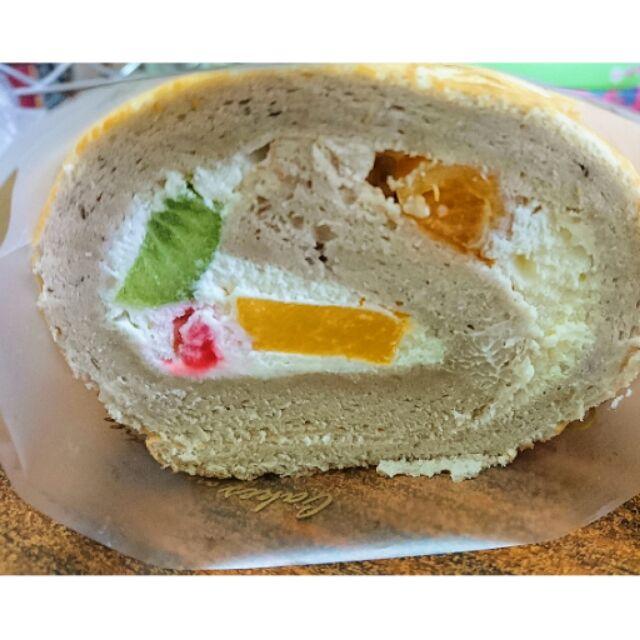 紅茶水果蛋糕捲,綜合水果,新鮮、養身