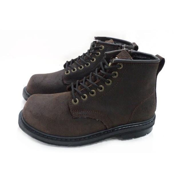 小兔商店KS 宏群TU601 側邊拉鍊式工作安全鞋咖啡色每批深淺燒有誤差PU 四氣室氣墊更