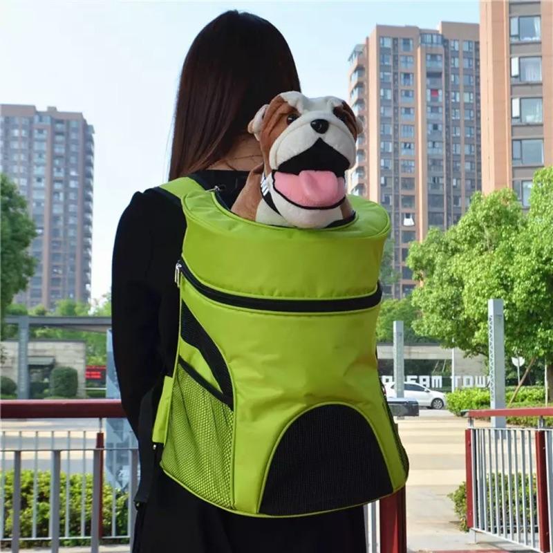 泰迪寵物包狗狗外出便攜糖果色寵物雙肩背包胸前狗包