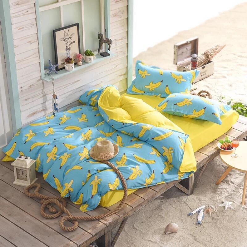 ! !蔬菜水果系列多款棉質雙人床包床單四件組