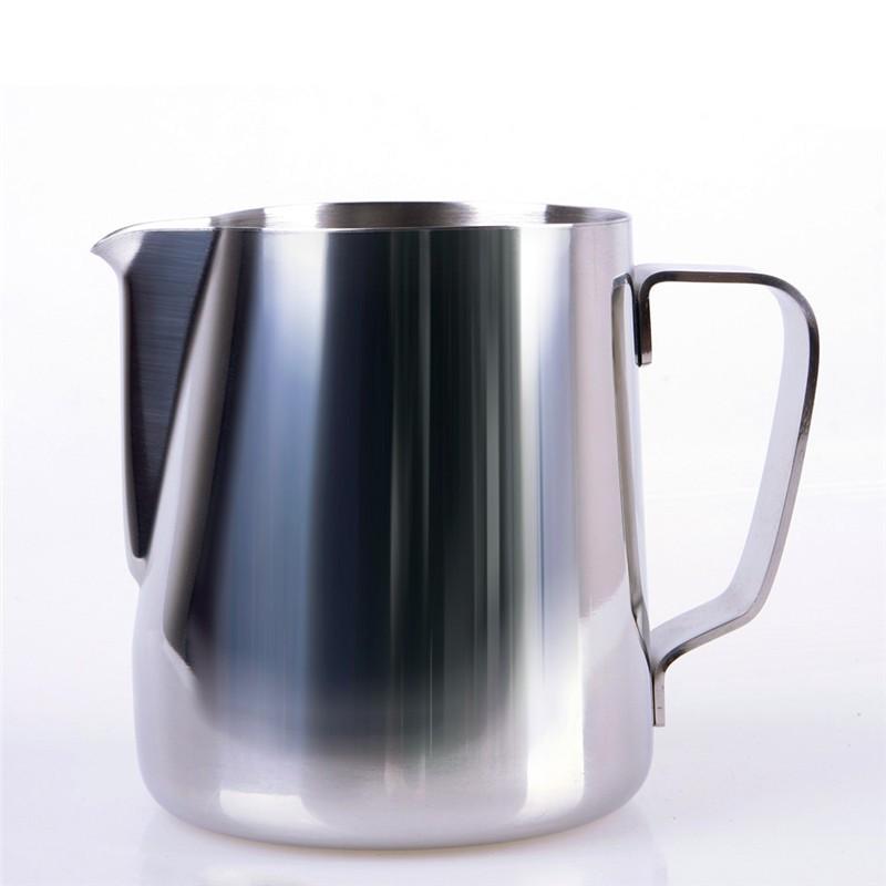 不銹鋼拉花杯350ml 350ML 快報不銹鋼廚房家用工藝咖啡發泡牛奶拿鐵壺