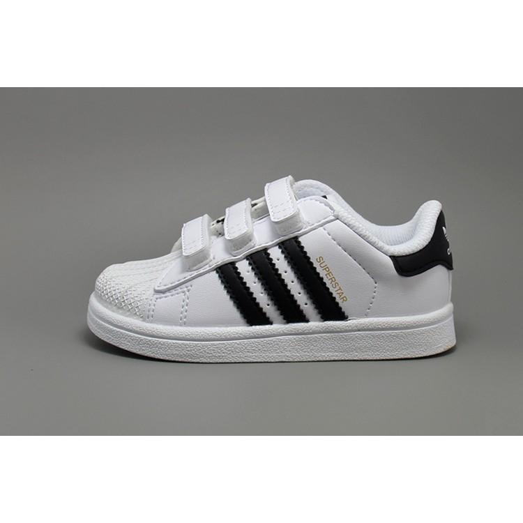 Adidas Originals Superstar 魔鬼氈三葉草金標貝殼頭小朋友鞋童鞋白