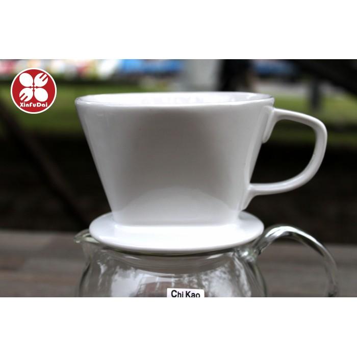 ~興富大行餐具~白瓷咖啡陶瓷濾杯2 4 人份~陶瓷咖啡濾杯