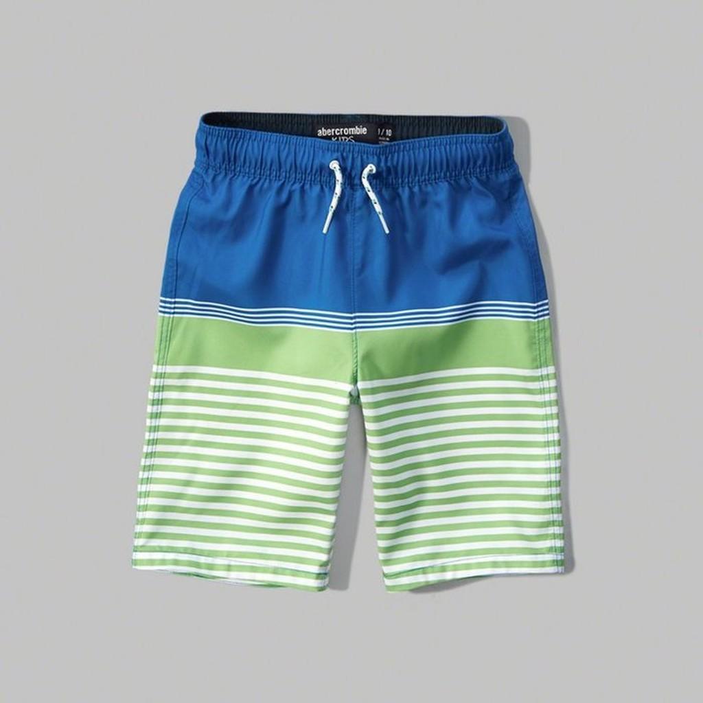 Abercrombie Fitch 橫條休閒款式,美國麋鹿夏天 海灘褲衝浪褲~A F 品~