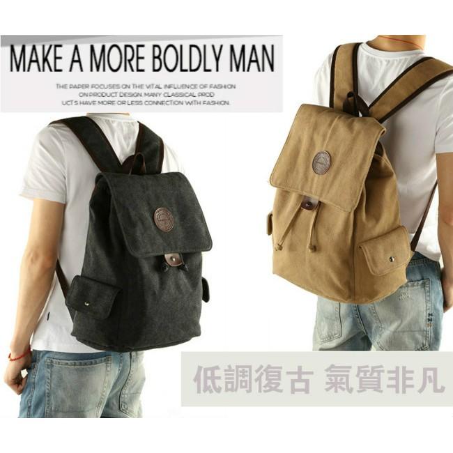 潮流帆布包後背包雙肩包斜肩包單肩包側背包休閒包旅行包~洛特風潮~M001