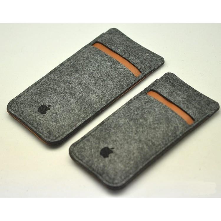~B04 ~iPhone6 4 7 吋手機皮套內袋緩衝包羊毛氈包內膽包手機保護套卡插收納