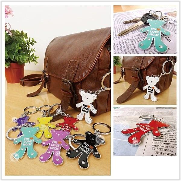 A1142 小熊水鑽鑰匙圈日韓系 手機吊飾