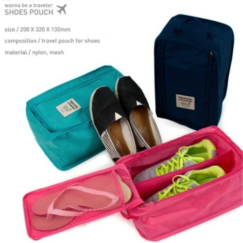 鞋袋鞋子手提袋鞋子收納袋防潑水鞋盒旅行收納袋~旅行 ~