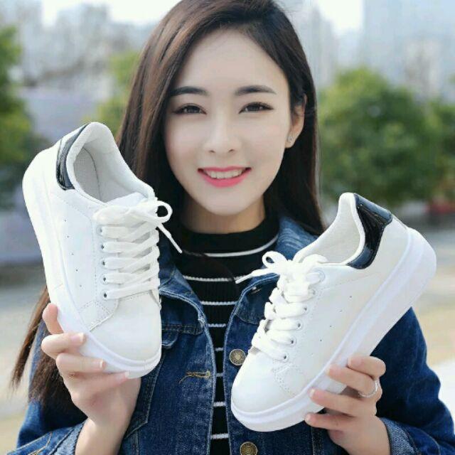 潮流 百搭 鞋厚底板鞋小白鞋休閒鞋女生學生鞋跑步鞋透氣