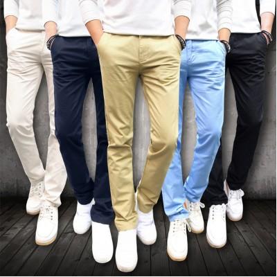 春裝男士直筒布褲青年商務修身 休閒褲潮流男裝學生百搭長褲子