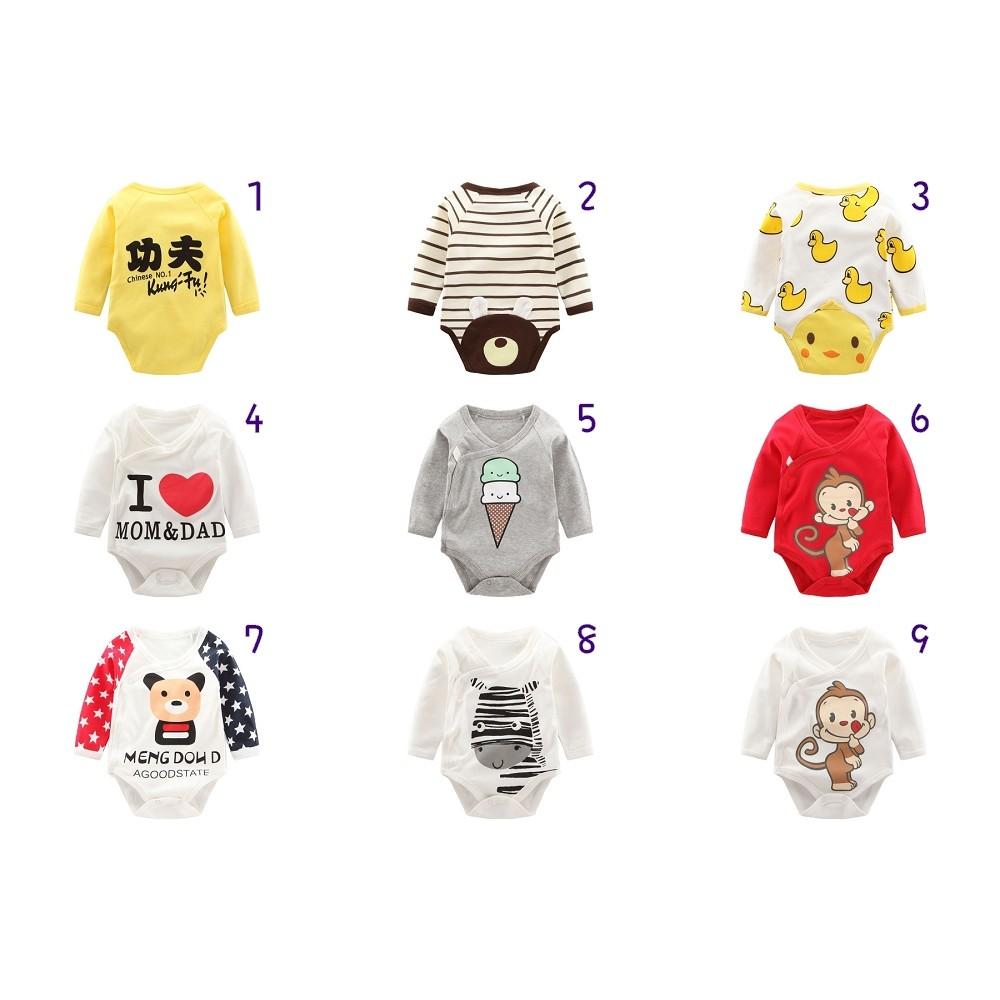 ✽ ➩專屬BABY m0095 ✽~ ~男女寶寶嬰兒新生兒春秋純棉長袖包屁衣連身衣三角哈衣