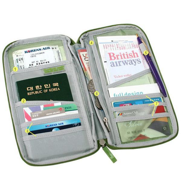 旅行護照機票收納夾