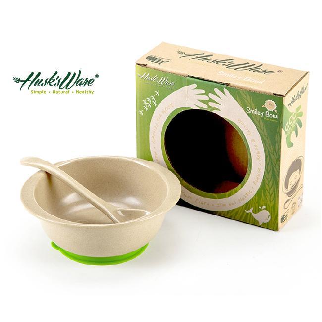 ~美國Husk 's ware ~稻殼天然無毒環保兒童小餐碗附小湯匙