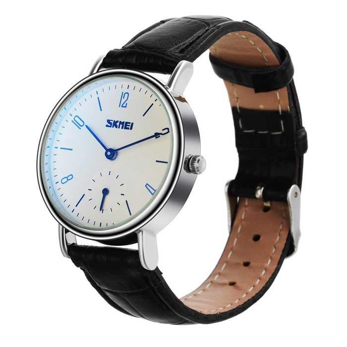 SKMEI 9120 女士50 米防水日曆石英手錶黑色