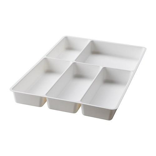 ~瑞典IKEA 宜家家居~STODJA 白色刀叉收納盤抽屜分隔盤分隔收納盤抽屜隔板分類格儲