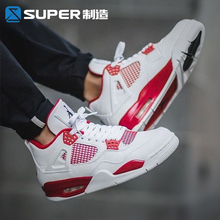 Air Jordan 4 Alternate 89 AJ4 白紅籃球鞋男鞋