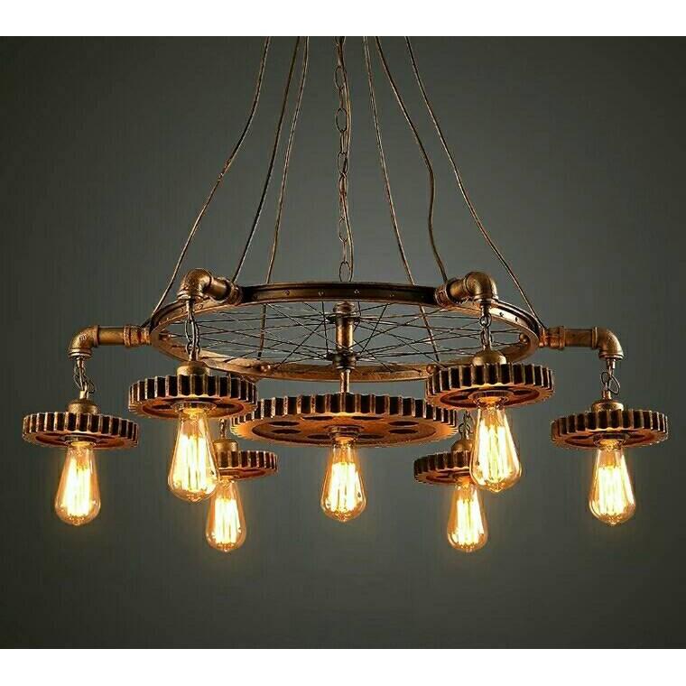 421 loft 吊燈 齒輪餐廳咖啡廳酒吧 復古美式工業風過道鐵藝吊燈