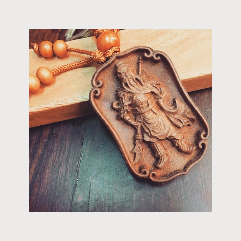原木桃木鑰匙圈吊飾
