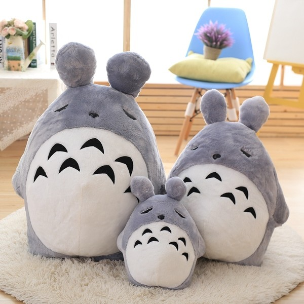 ~預~45 75 100 公分龍貓公仔睡覺款毛絨玩具玩偶布娃娃龍貓抱枕