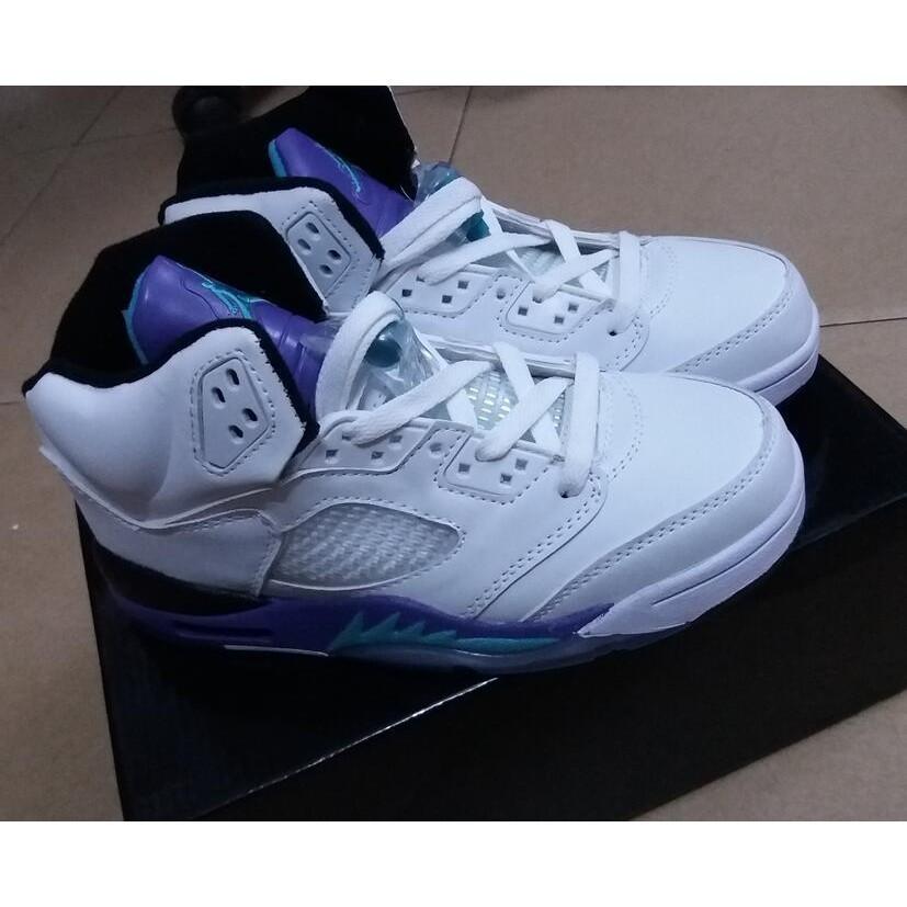 NIKE Air Jordan 5 喬丹5 代籃球鞋男五代奧利奧女鞋白紫藍男鞋喬5 鴛鴦鞋