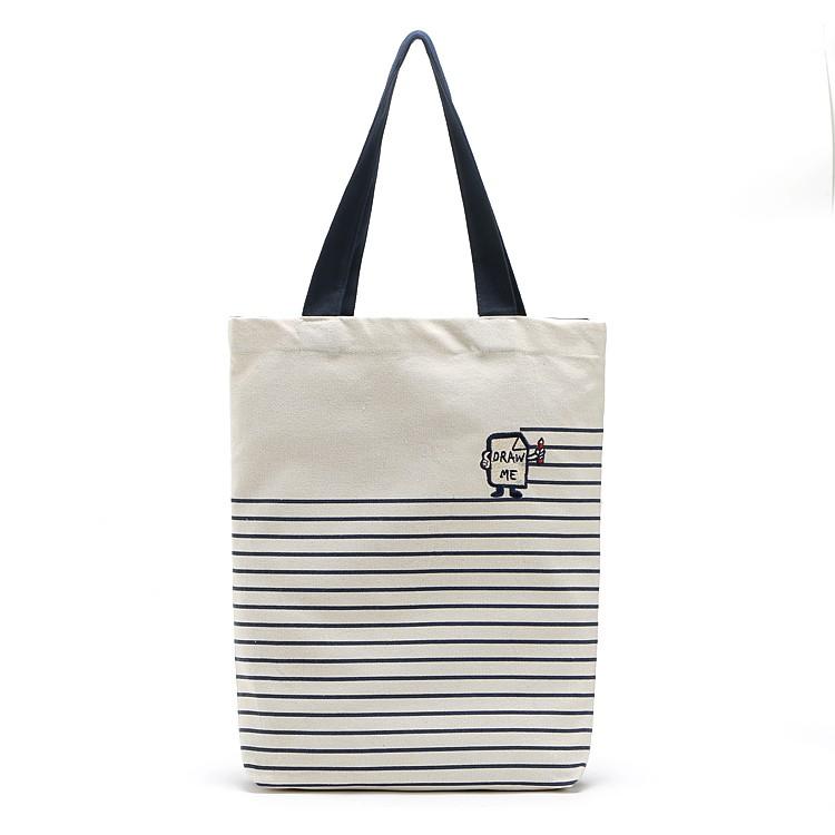 FUN 日雜日系小清新簡約帆布包 袋環保袋肩背包