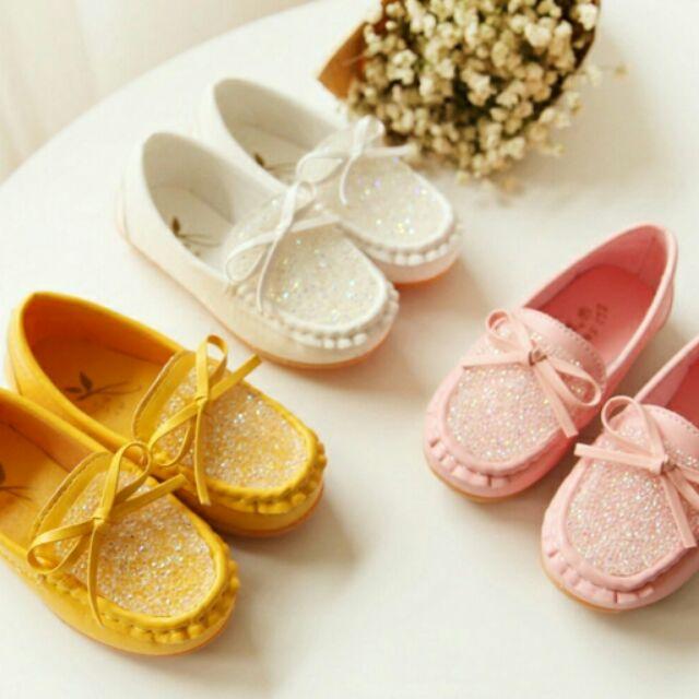 男女童 亮點蝴蝶結懶人鞋兒童鞋豆豆鞋